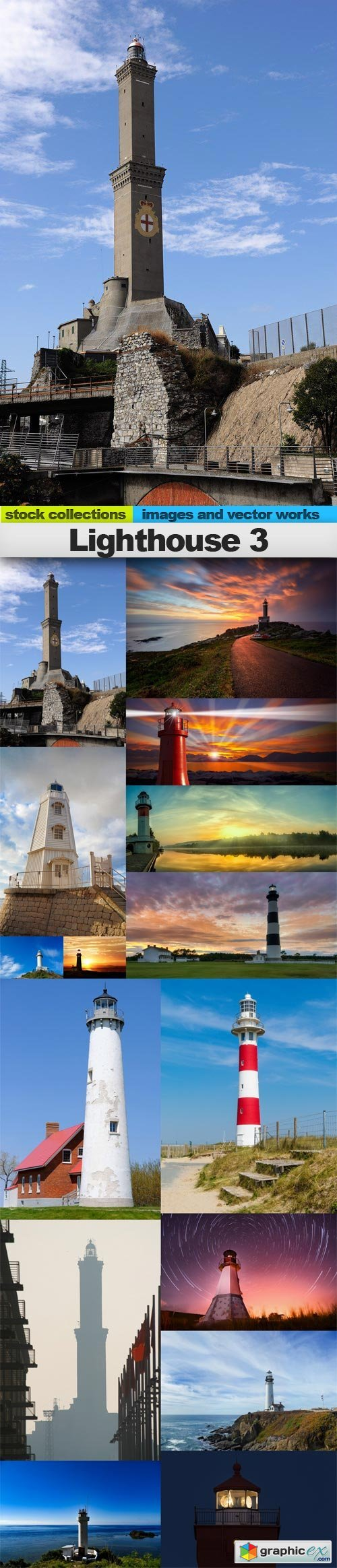 Lighthouse 3, 15 x UHQ JPEG