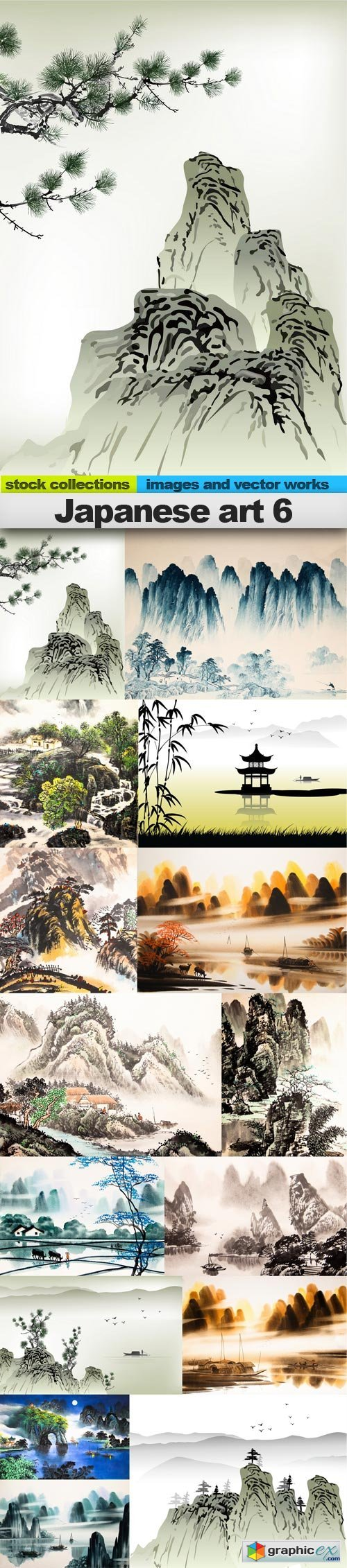 Japanese art 6, 15 x UHQ JPEG