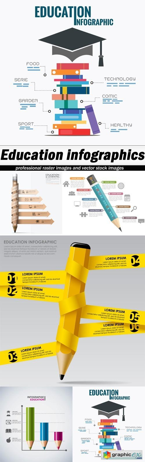 Education infographics - 5 EPS
