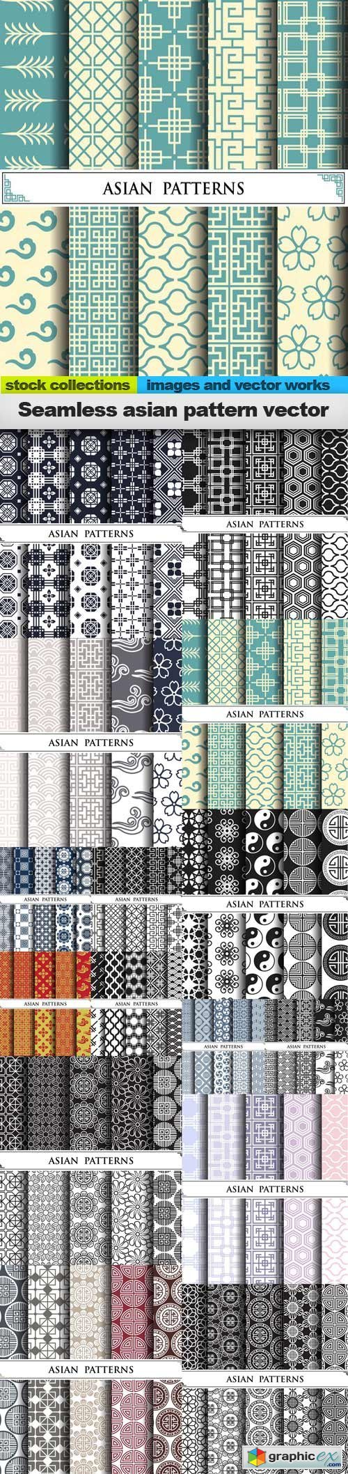 Seamless asian pattern vector, 15 x EPS