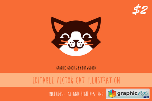Editable Vector Cat Illustration 835695