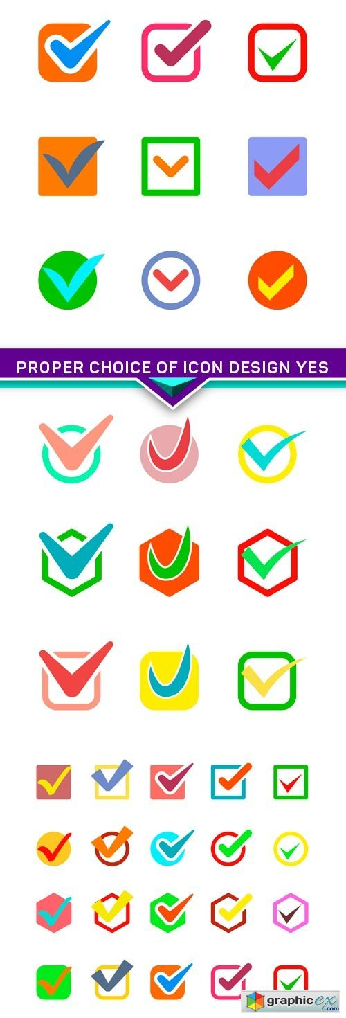 Proper choice of icon design yes 3X EPS