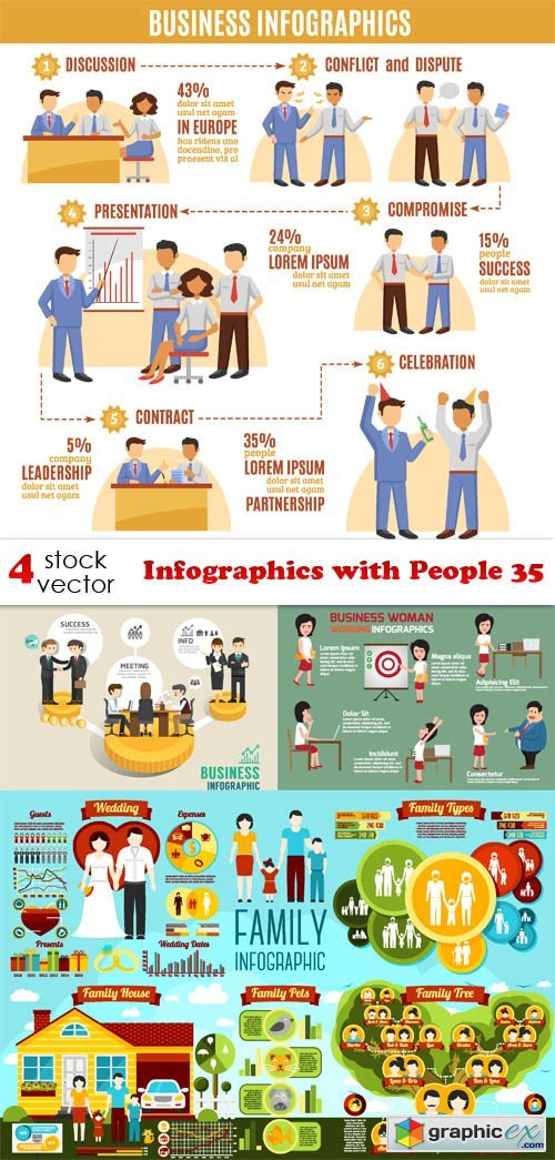 Infographics with People 35