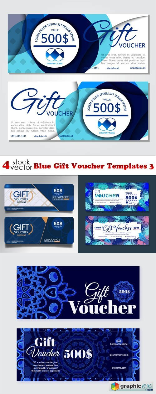Blue Gift Voucher Templates 3