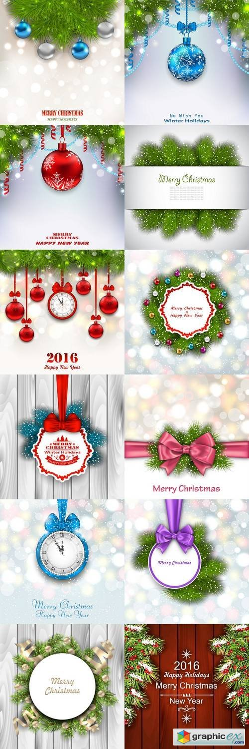New Year & Christmas Background 2