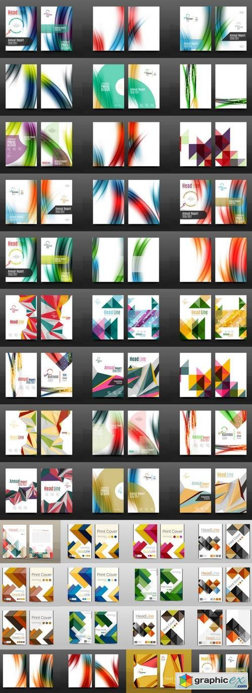 Collection of Business Annual Report Covers