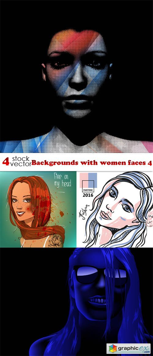 Backgrounds with women faces 4