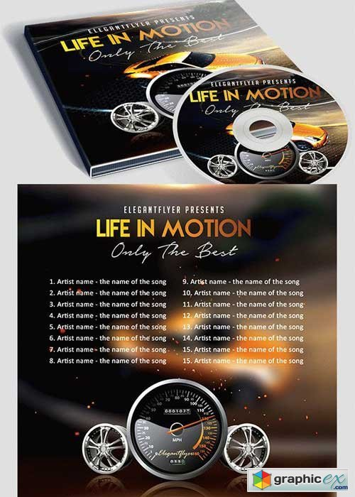 Life in Motion CD Cover PSD V2 Template