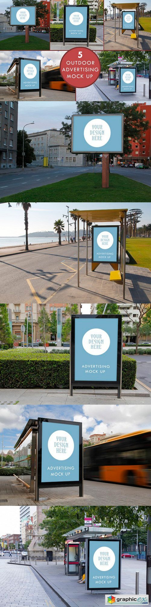 Advertising outdoor mock up