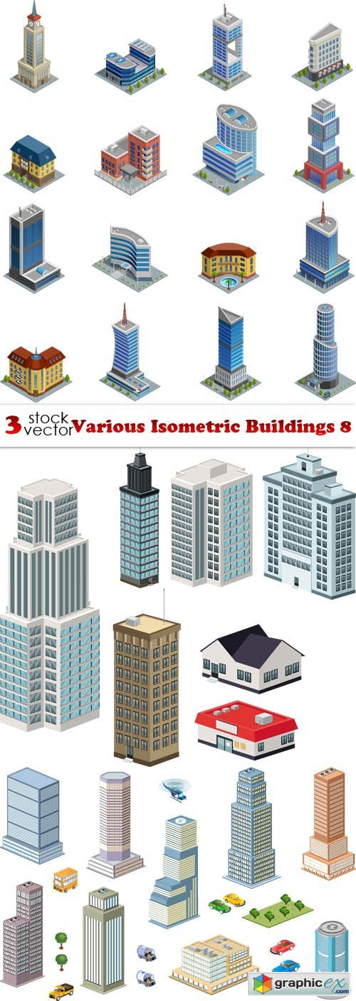 Various Isometric Buildings 8