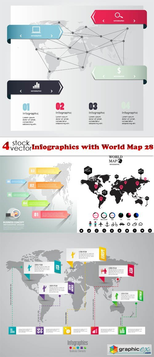 Infographics with World Map 28