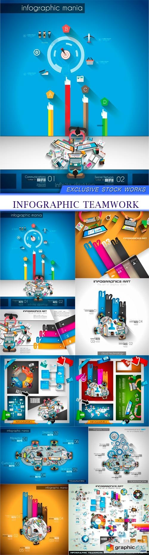 Bussiness and infographic page 32 free download vector stock infographic teamwork 10x eps gumiabroncs Choice Image