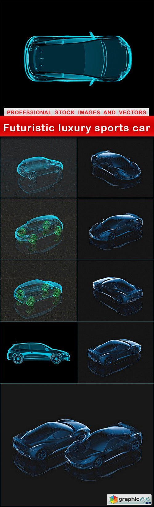 Futuristic luxury sports car - 10 UHQ JPEG