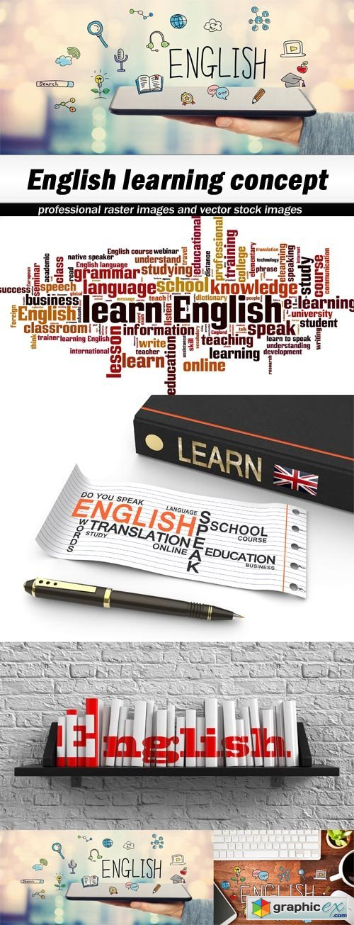 English learning concept - 5 UHQ JPEG