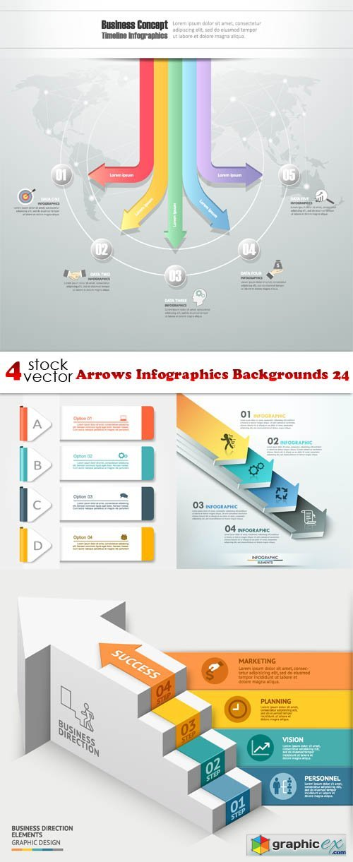 Arrows Infographics Backgrounds 24