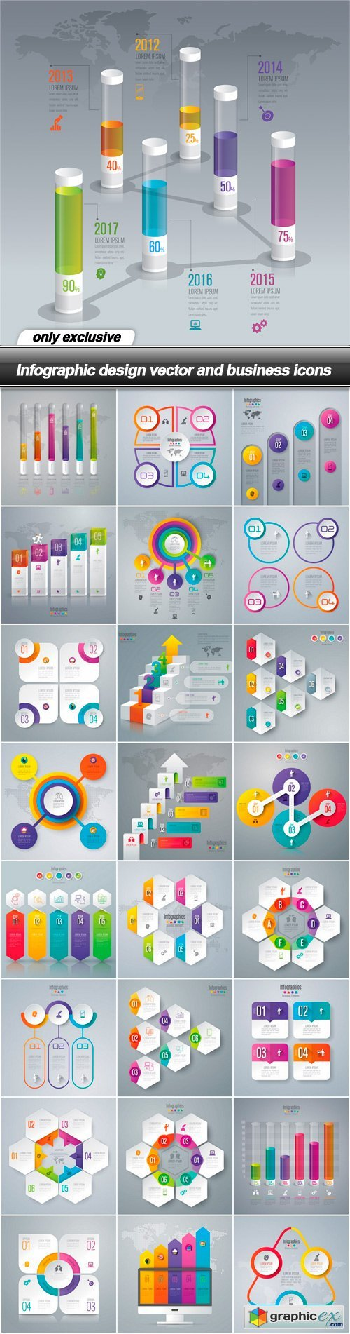 Infographic design vector and business icons - 25 EPS