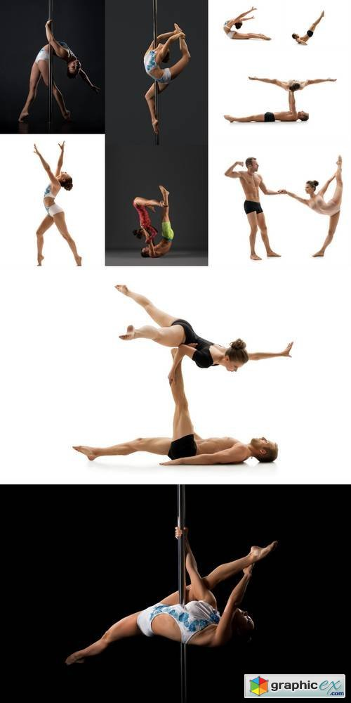 Acrobatics People Isolated