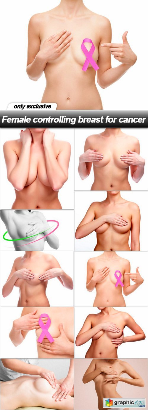 Female controlling breast for cancer - 10 UHQ JPEG