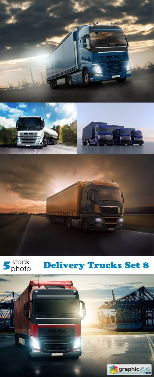 Delivery Trucks Set 8