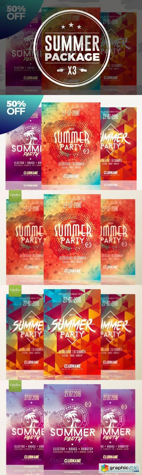 50%OFF - Summer Flyer Bundle v01