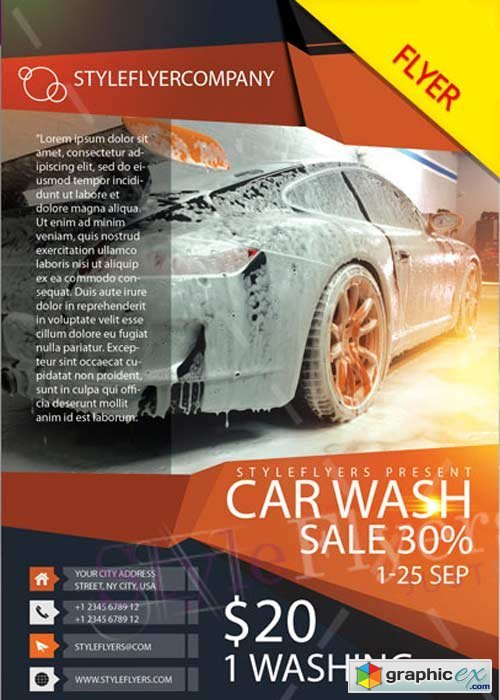 Car Wash V5 PSD Flyer Template