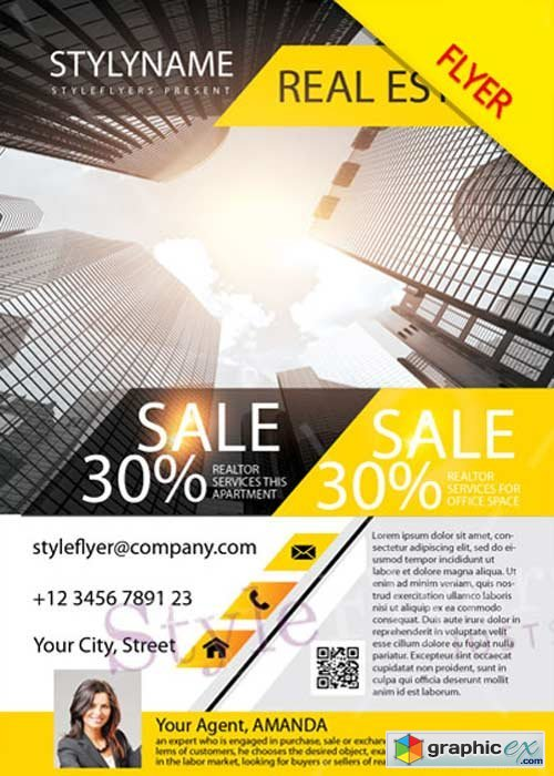 Real Estate V12 PSD Flyer Template