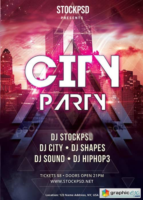 City Party V12 PSD Flyer