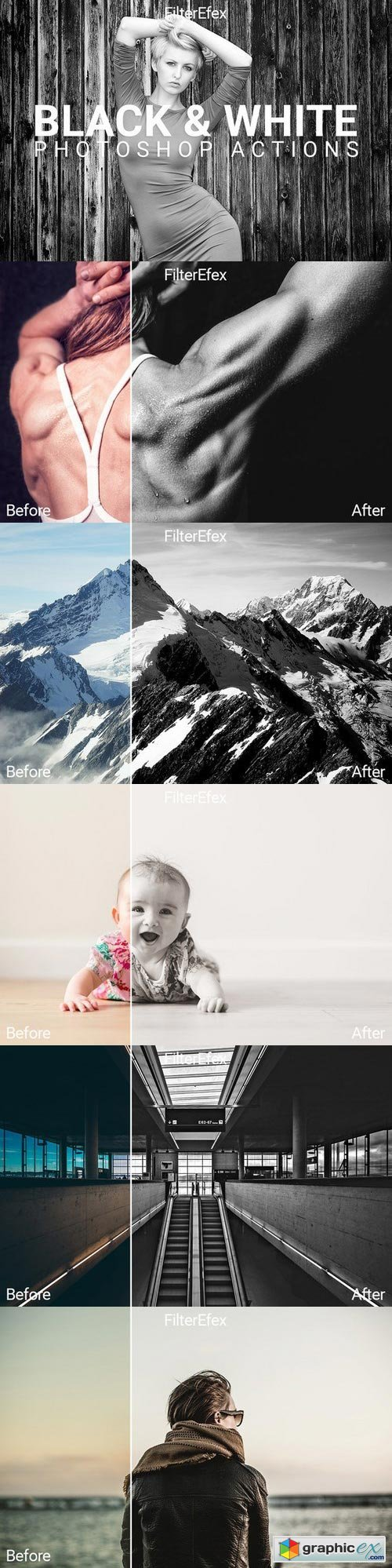 Black & White Photoshop Actions 713929