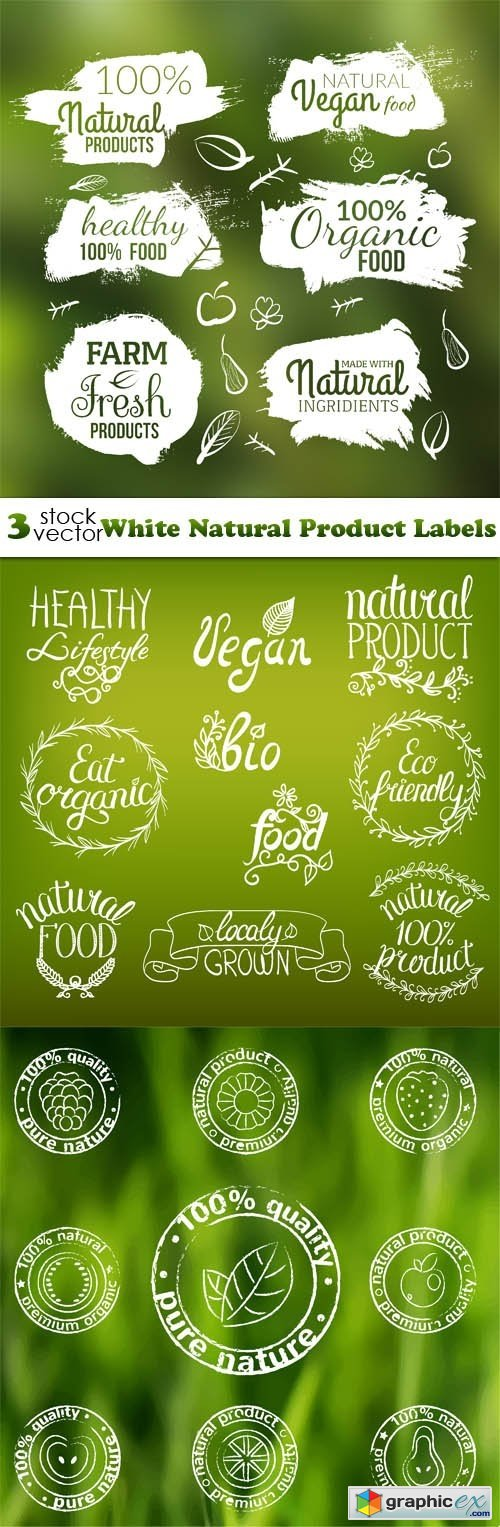 White Natural Product Labels