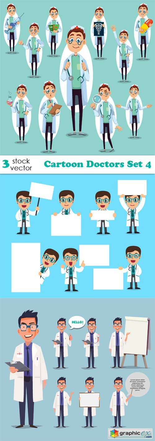 Cartoon Doctors Set 4