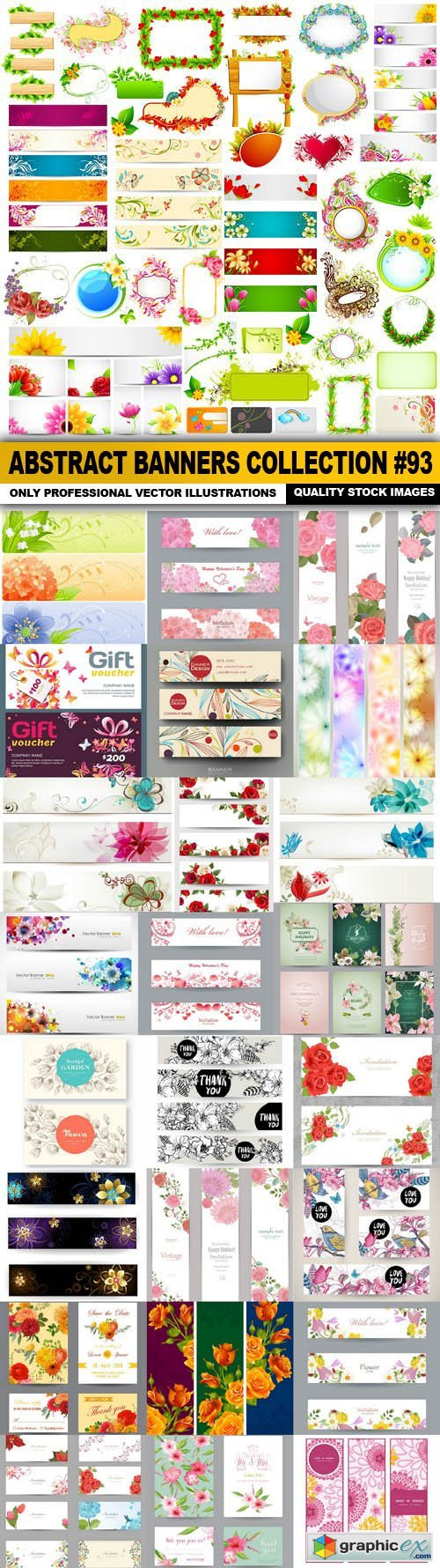 Abstract Banners Collection #93 - 25 Vectors