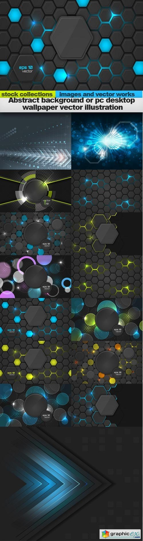 Abstract background or pc desktop wallpaper vector illustration, 15 x EPS