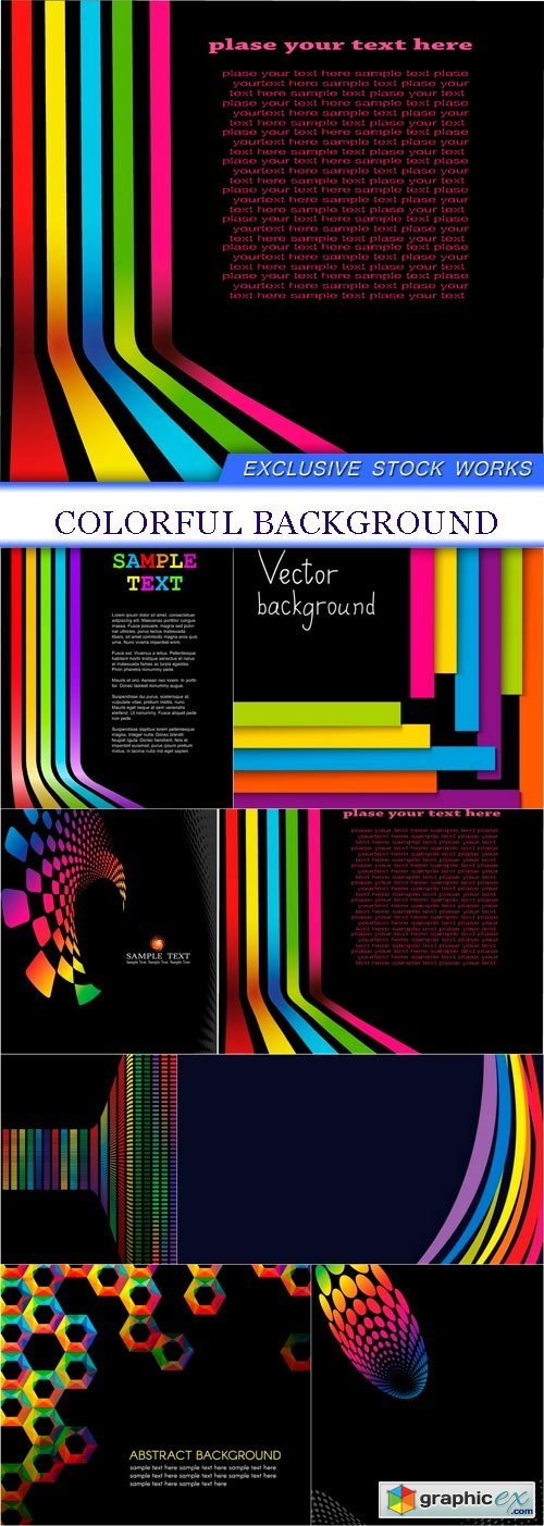 colorful background 8X EPS