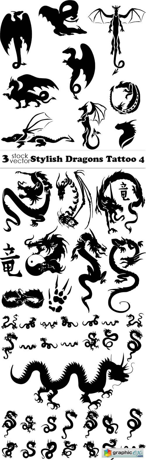 Stylish Dragons Tattoo 4