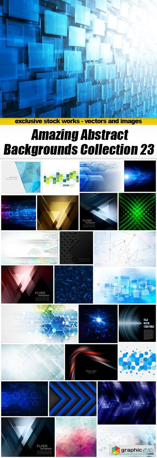 Amazing Abstract Backgrounds Collection 23 - 27xEPS