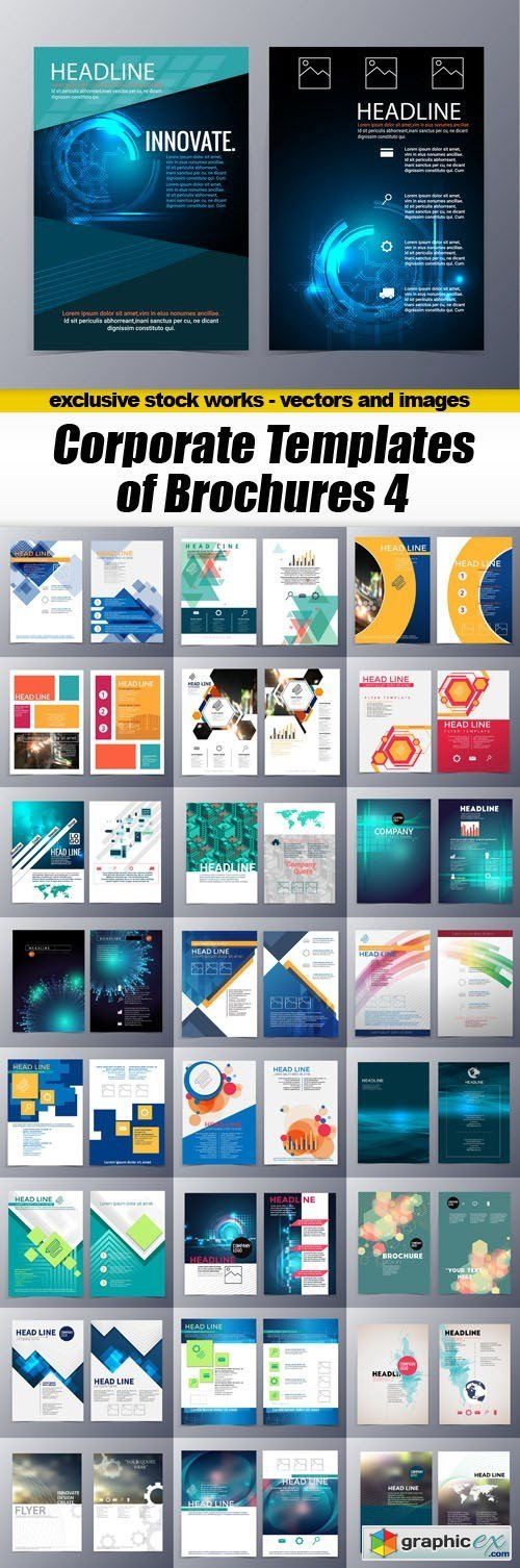 Corporate Templates of Brochures 4 - 25xEPS
