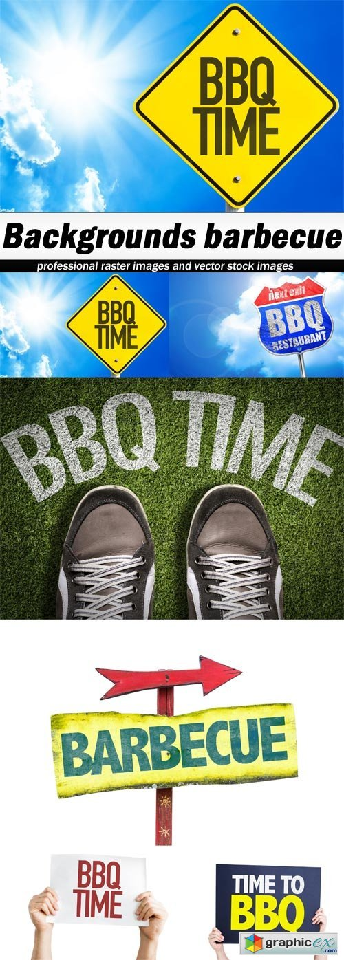 Backgrounds barbecue - 6 UHQ JPEG