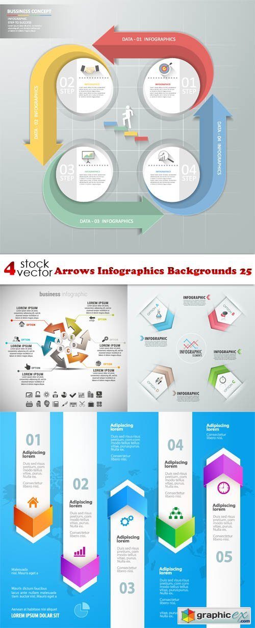 Arrows Infographics Backgrounds 25