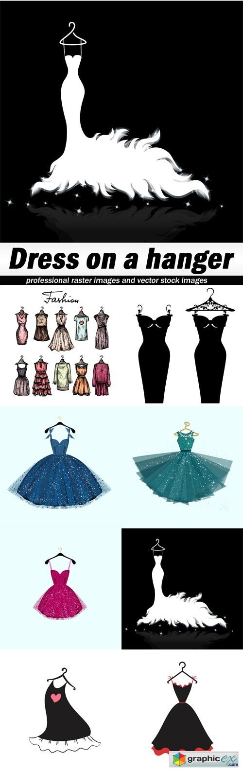 Dress on a hanger - 8 EPS