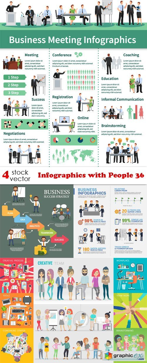 Infographics with People 36