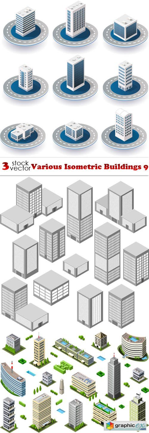 Various Isometric Buildings 9
