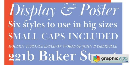 Baskerville Display PT Font Family 6 Fonts