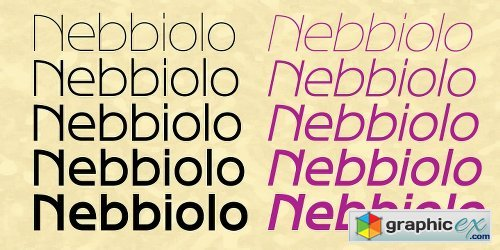 Nebbiolo Font Family - 10 Fonts