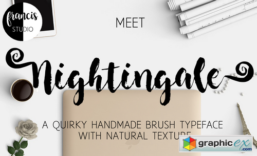 Nightingale Brush Font