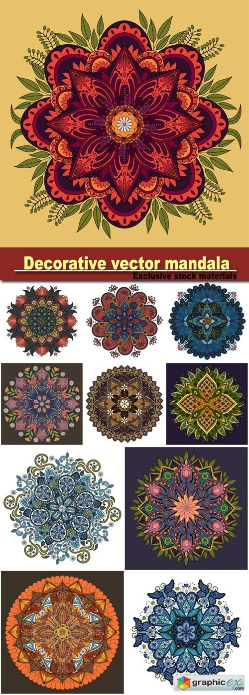 Decorative vector mandala ornament