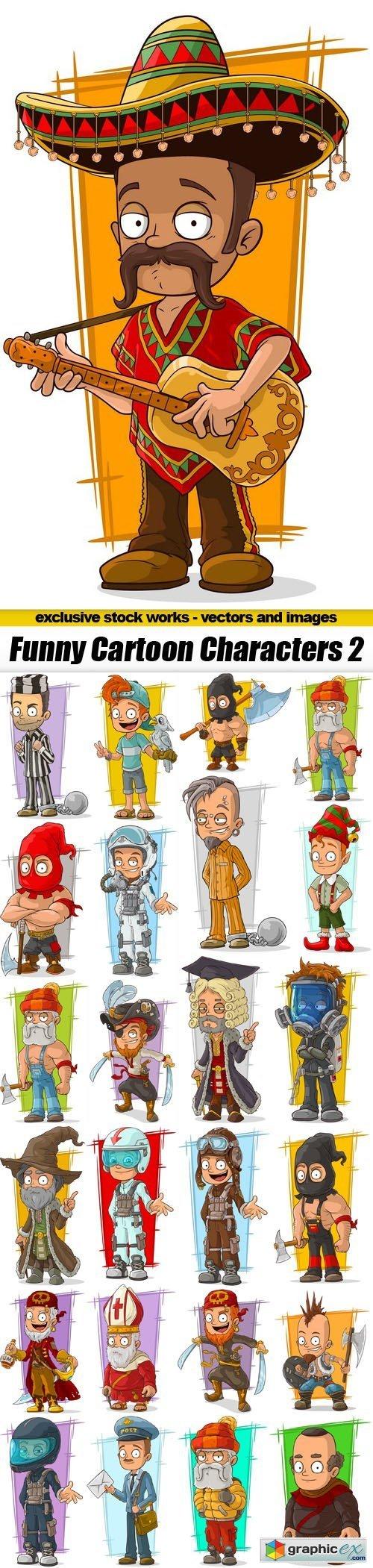 Funny Cartoon Characters 2 - 25xEPS