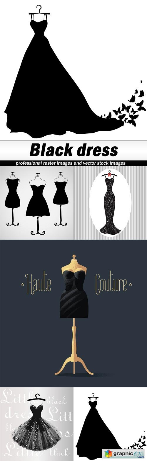 Black dress - 5 EPS