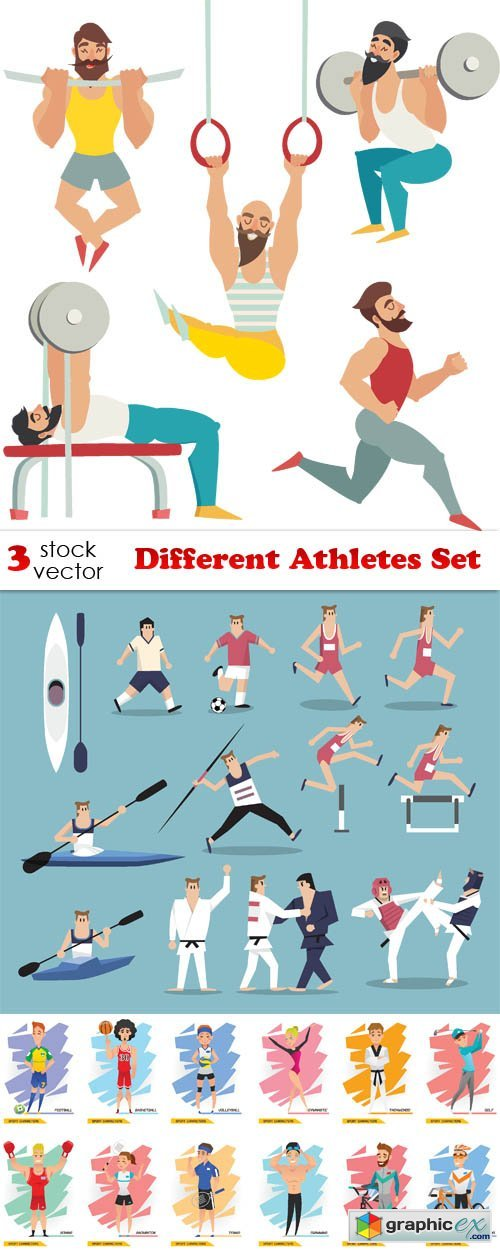 Different Athletes Set