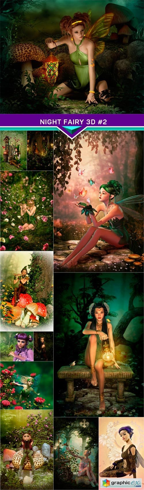 Night Fairy 3d #2 13X JPEG