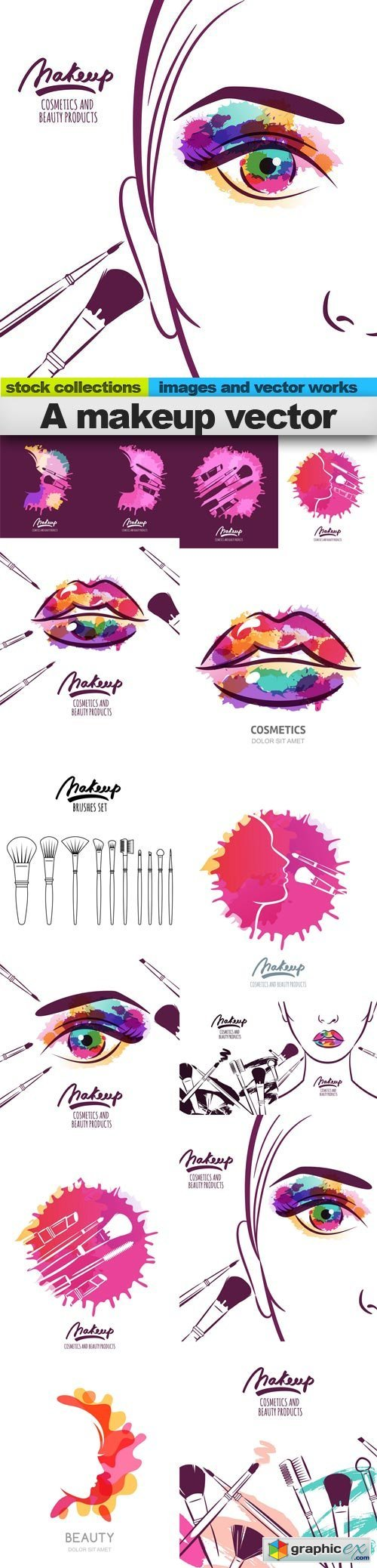 A makeup vector, 15 x EPS